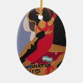 Buenos Aires Tango Ceramic Oval Decoration