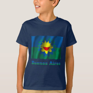 Buenos Aires waving flag with name T-Shirt