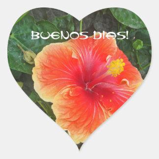 Buenos Dias Heart Sticker