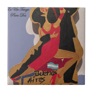 BuenosAires_Tango_Poem Small Square Tile