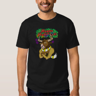 Buff Bull Happy Holiday's Tee Top For Men