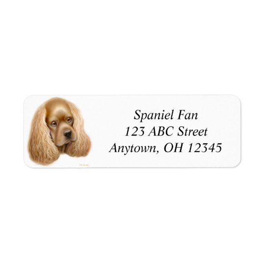 Buff Cocker Spaniel Label