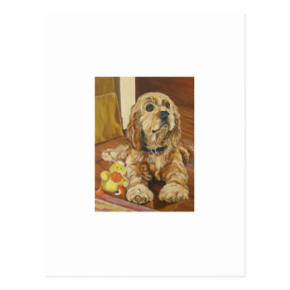 Buff Cocker Spaniel Postcard