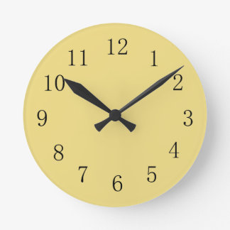 Buff Colored Kitchen Wall Clock