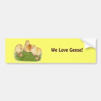 Buff Goslings Tufted Bumper Sticker