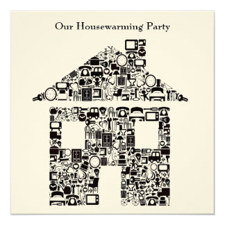 Buff House Home Housewarming Party Invitation