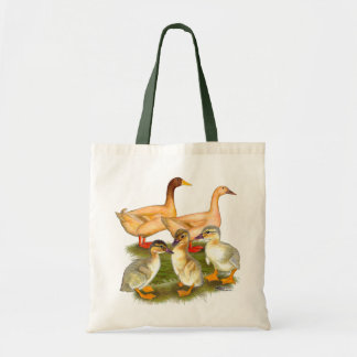 Buff Orpington Duck Family Tote Bags