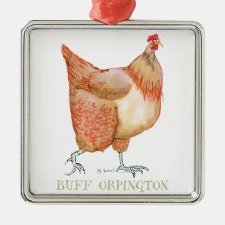Buff Orpington hen, tony fernandes Christmas Ornament