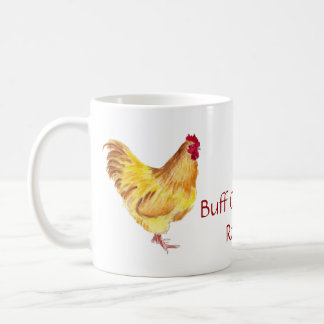 buff orpington rooster painting items coffee mug