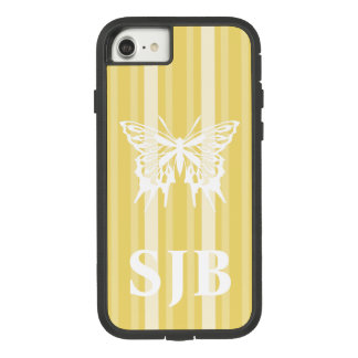 Buff Victorian Stripe with Butterfly Case-Mate Tough Extreme iPhone 8/7 Case