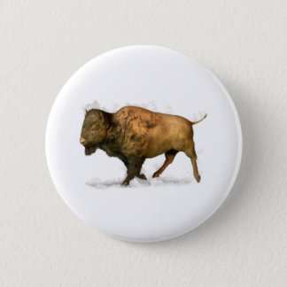 Buffalo 6 Cm Round Badge