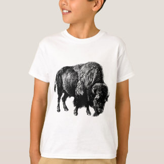 Buffalo American Bison Vintage Wood Engraving T-Shirt