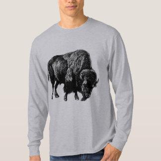 Buffalo American Bison Vintage Wood Engraving T-Shirt