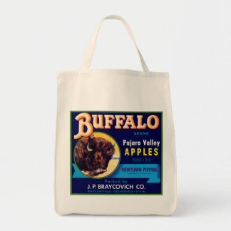 Buffalo Apples Grocery Tote Bag
