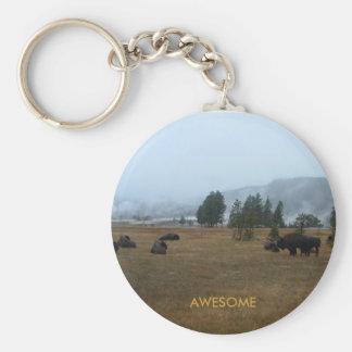 Buffalo Awesome Keychain