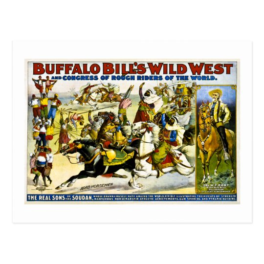 Buffalo Bill 1899 - Arab Horsemen Postcard