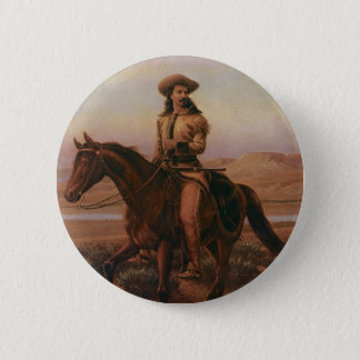 Buffalo Bill 6 Cm Round Badge