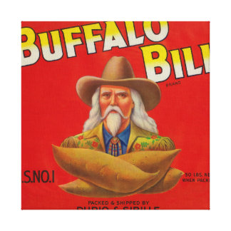 Buffalo Bill Brand Yam Crate Label Canvas Print