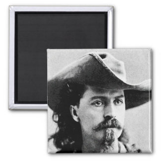 Buffalo Bill Cody Western Scout Wild West Showman Square Magnet
