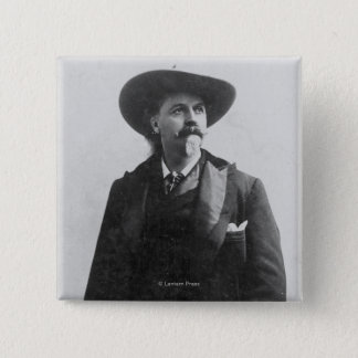 Buffalo Bill Portrait 15 Cm Square Badge