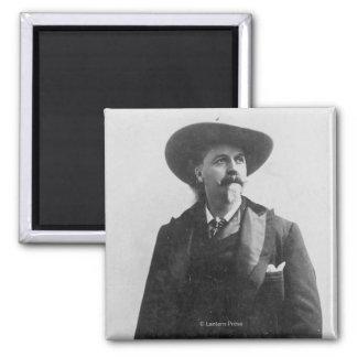 Buffalo Bill Portrait Square Magnet
