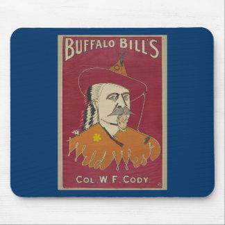 Buffalo Bill s Wild West Poster 1890 Mousepads