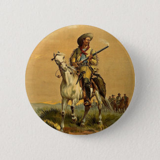 """Buffalo Bill """"The Scout"""" Vintage Advertisement 6 Cm Round Badge"""