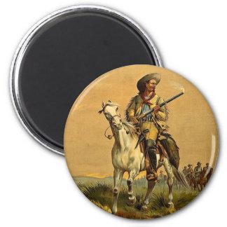 "Buffalo Bill ""The Scout"" Vintage Advertisement Fridge Magnet"