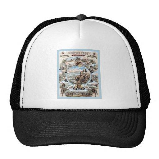 Buffalo Bill ~ Vintage Advertising Poster. Trucker Hats