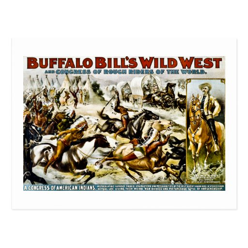 Buffalo Bill Wild West 1899 Postcard