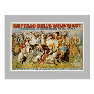 Buffalo Bill wild west show, c1899. Post Cards
