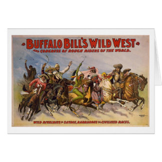 Buffalo Bill Wild West Show Greeting Card