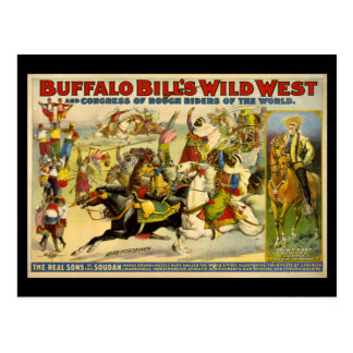 Buffalo Bill's Wild West Cowboys Poster Post Cards