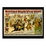 Buffalo Bill's Wild West Cowboys Poster Postcard