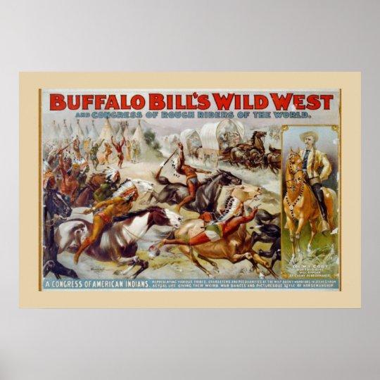 Buffalo Bill's Wild West Indian Poster