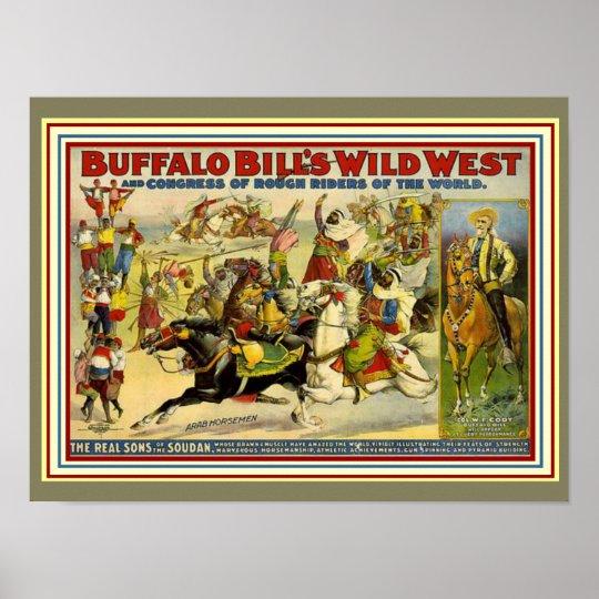 Buffalo Bill's Wild West Poster 12 x 16