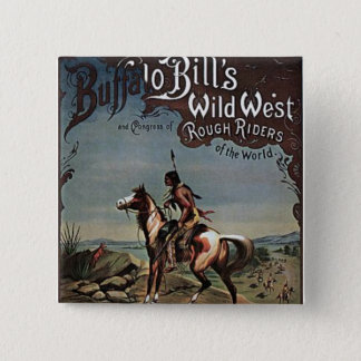 Buffalo Bills Wild West Show 15 Cm Square Badge
