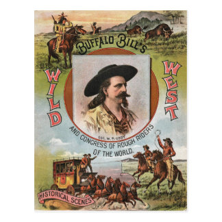Buffalo Bills Wild West Show 1893 Vintage Ad Postcard