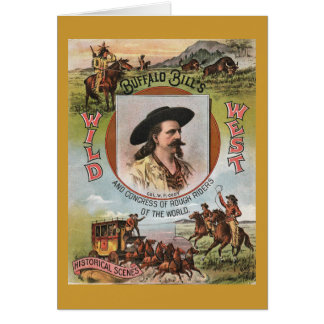 Buffalo BillsWild West Show 1893 Vintage Ad Greeting Cards