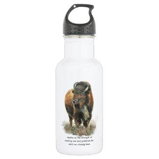 Buffalo Bison Animal Totem Spirit Guide 532 Ml Water Bottle