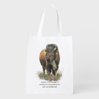 Buffalo Bison Animal Totem Spirit Guide Art