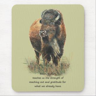Buffalo Bison Animal Totem Spirit Guide Mouse Mat