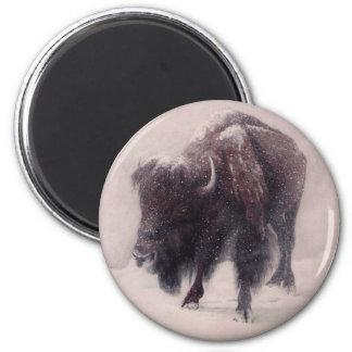 Buffalo Blizzard 6 Cm Round Magnet