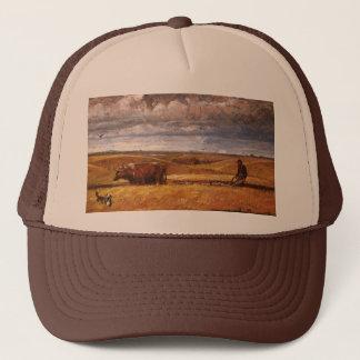 Buffalo Bones Plowed Under by Harvey Thomas Dunn Trucker Hat