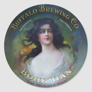 Buffalo Brewing Company, Sacramento, CA Round Sticker