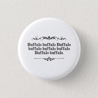 Buffalo Buffalo Sentence 3 Cm Round Badge
