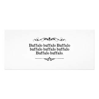 Buffalo Buffalo Sentence Custom Rack Cards