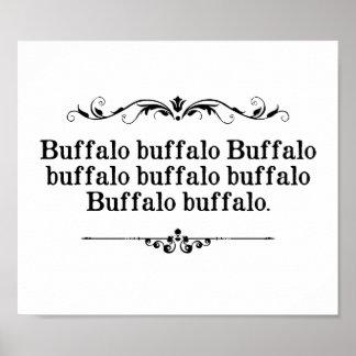 Buffalo Buffalo Sentence Poster
