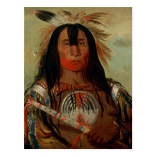 Buffalo Bull's Back Fat Head Chief Blood Tribe Postcard