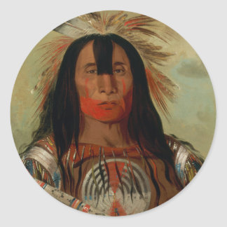 Buffalo Bull's Back Fat Head Chief Blood Tribe Round Sticker